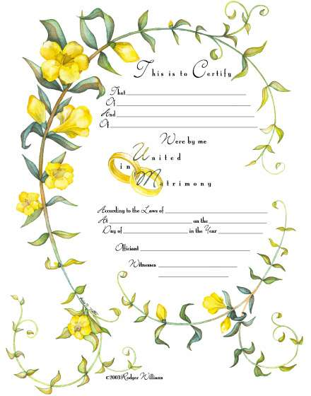 Image for Jasmine Marriage Certificate